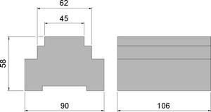 Rozmery: 4-kanálový tenzometrický prevodník DGT4