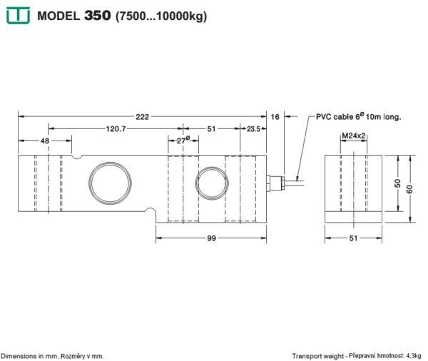 Snímač sily M350i - 7500kg a 10000kg